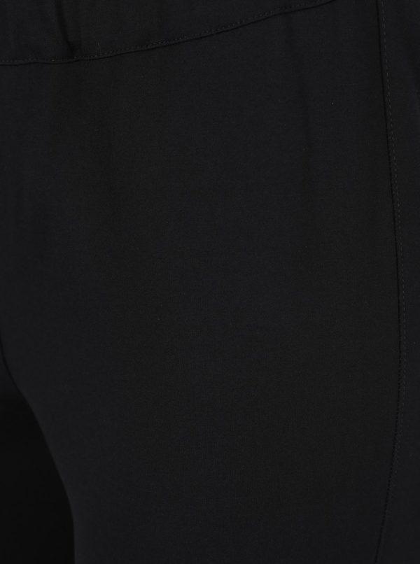 Čierne slim nohavice s pružným pásom Ulla Popken