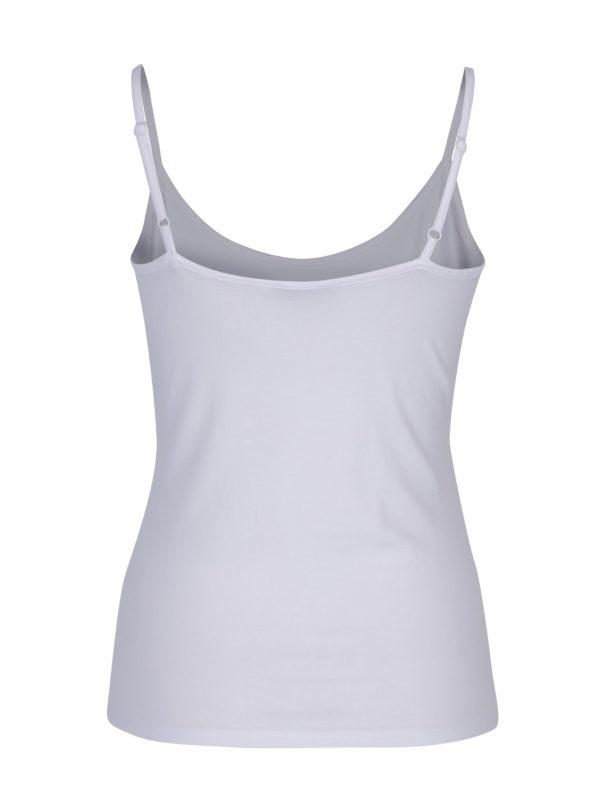 Biele dámske tielko s tenkými ramienkami M&Co