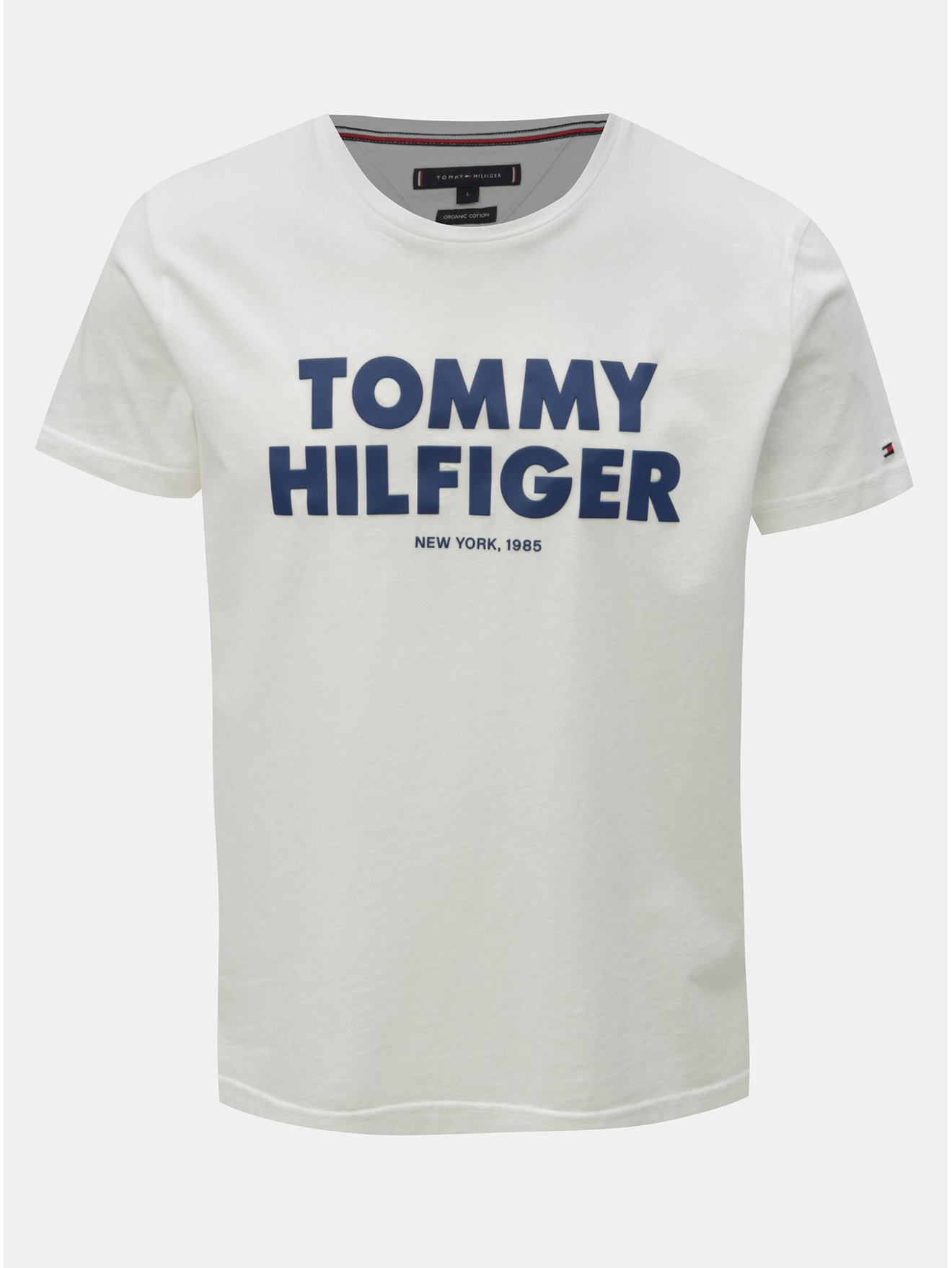 65532abc0e Biele pánske tričko s potlačou Tommy Hilfiger