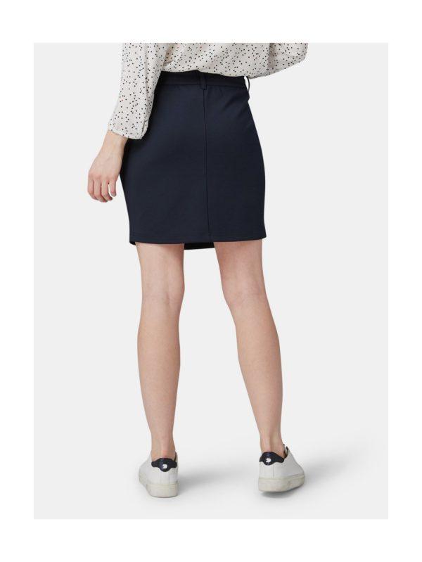 Tmavomodrá sukňa Tom Tailor Denim