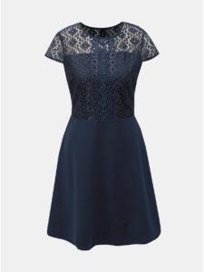 Tmavomodré šaty s čipkou Dorothy Perkins