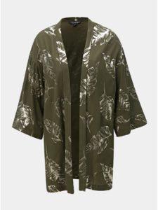 Tmavozelené kimono s potlačou Dorothy Perkins