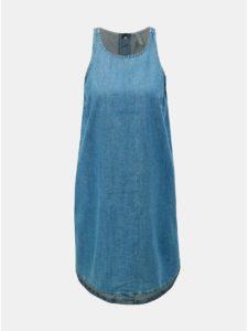 Modré rifľové šaty ONLY Carlir