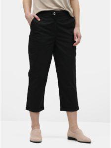 Čierne skrátené chino nohavice Dorothy Perkins