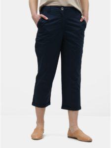 Tmavomodré skrátené chino nohavice Dorothy Perkins