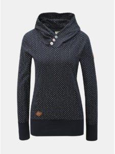 Tmavomodrá dámska bodkovaná mikina Ragwear Chelsea Dots