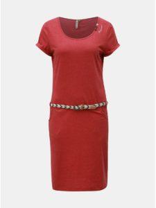Červené šaty s opaskom Ragwear Montana
