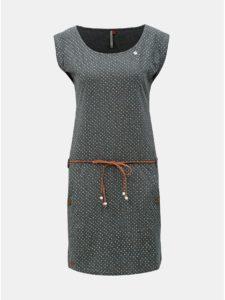 Sivé bodkované šaty s opaskom Ragwear Tag Dots
