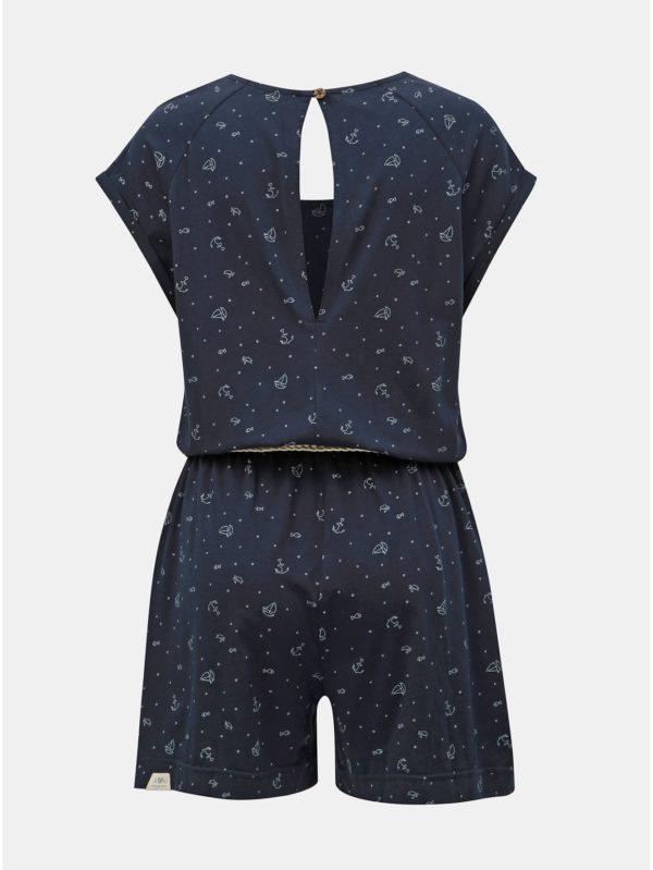 Modrý dámsky vzorovaný overal Ragwear Ennie