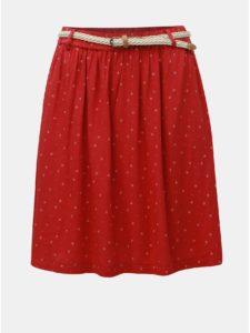 Červená vzorovaná sukňa Ragwear Mare