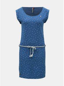 Modré vzorované šaty s opaskom Ragwear Tamy