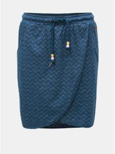 Modrá vzorovaná sukňa Ragwear Naila
