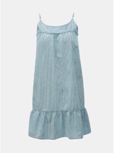 Modré pruhované šaty VERO MODA Samantha