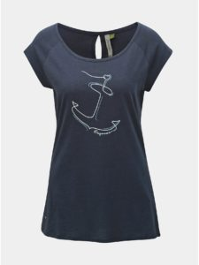 Tmavomodré dámske tričko s potlačou Ragwear Sea Breeze
