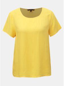 Žlté basic tričko VERO MODA Simply