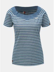 Modré dámske pruhované tričko Ragwear Seina