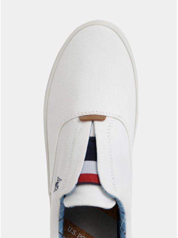 Biele pánske slip on U.S. Polo Assn.