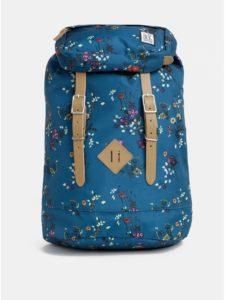 Petrolejový dámsky kvetovaný nepremokavý batoh The Pack Society 23 l
