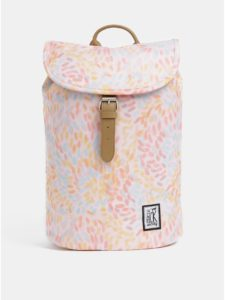 Svetloružový dámsky vzorovaný nepremokavý batoh The Pack Society 10 l