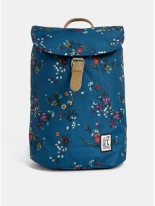 Petrolejový dámsky kvetovaný nepremokavý batoh The Pack Society 10 l