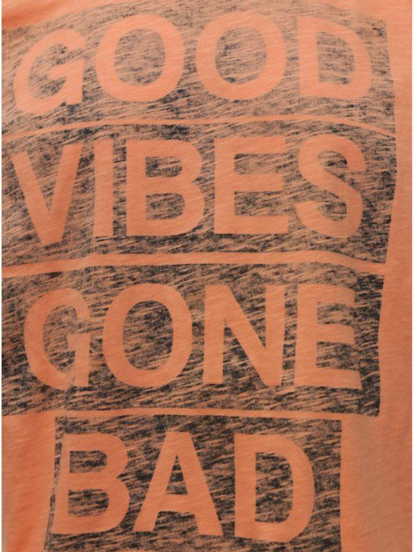 Oranžové tričko s potlačou Shine Original