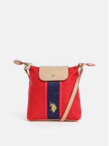 Červená crossbody kabelka U.S. Polo Assn.