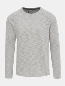 Svetlosivý melírovaný sveter Shine Original