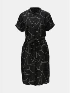 571fa366156a Čierne vzorované košeľové šaty VERO MODA Love