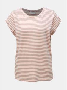 Staroružové pruhované basic tričko VERO MODA AWARE Ava