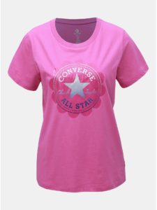 Ružové dámske tričko s potlačou Converse