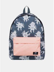 Sivý kvetovaný batoh Roxy Sugar Baby 16 l