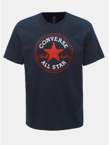 Tmavomodré pánske tričko s potlačou Converse