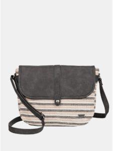 Béžová pruhovaná jutová kabelka Roxy Find Your Fireb