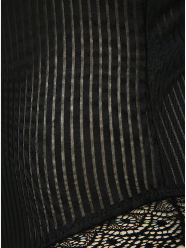 Čierne pruhované body VILA Calinda