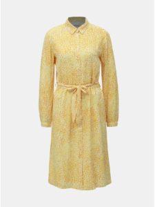 Žlté vzorované košeľové šaty VILA Osaly