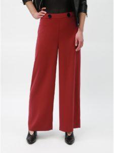 Červené široké nohavice s vysokým pásom Dorothy Perkins