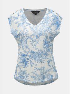 Modro–biele kvetované tričko Dorothy Perkins