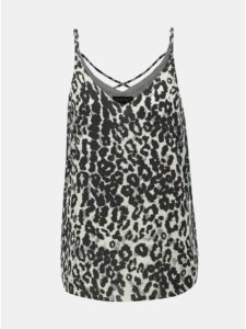 Bielo–čierny top s leopardím vzorom Dorothy Perkins