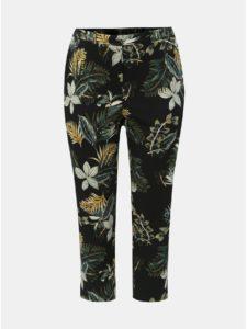 Zeleno–čierne kvetované nohavice Dorothy Perkins Curve