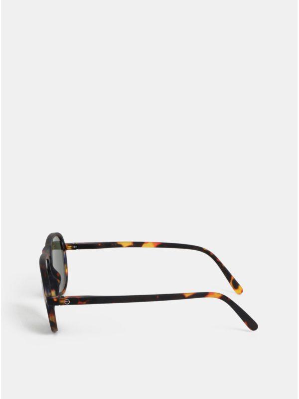 Hnedé vzorované slnečné okuliare IZIPIZI #I