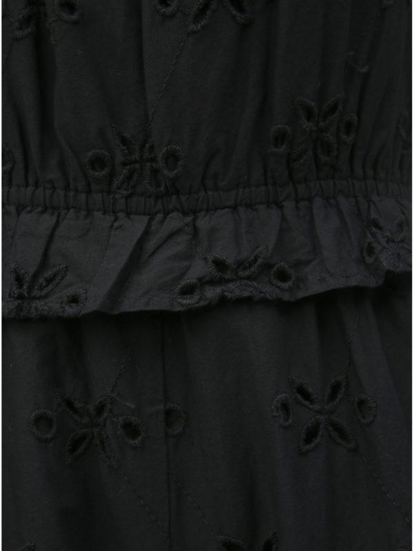 Čierny overal s madeirou Miss Selfridge