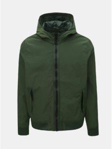 Tmavozelená tenká bunda Burton Menswear London Globe