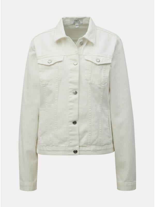 Biela rifľová bunda Dorothy Perkins Tall