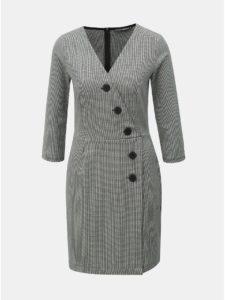 Sivé vzorované puzdrové šaty TALLY WEiJL