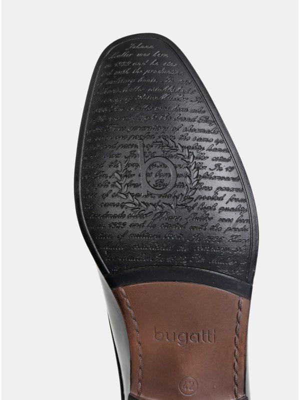 Čierne pánske kožené poltopánky bugatti