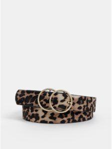 Hnedý opasok s leopardím vzorom Dorothy Perkins