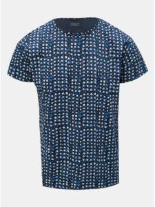 Tmavomodré bodkované tričko Dstrezzed