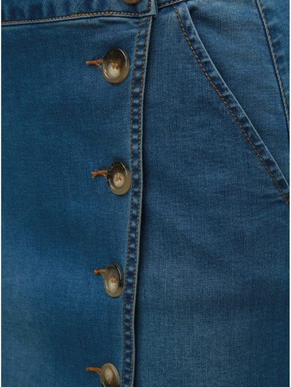 Modrá rifľová sukňa s gombíkmi Dorothy Perkins