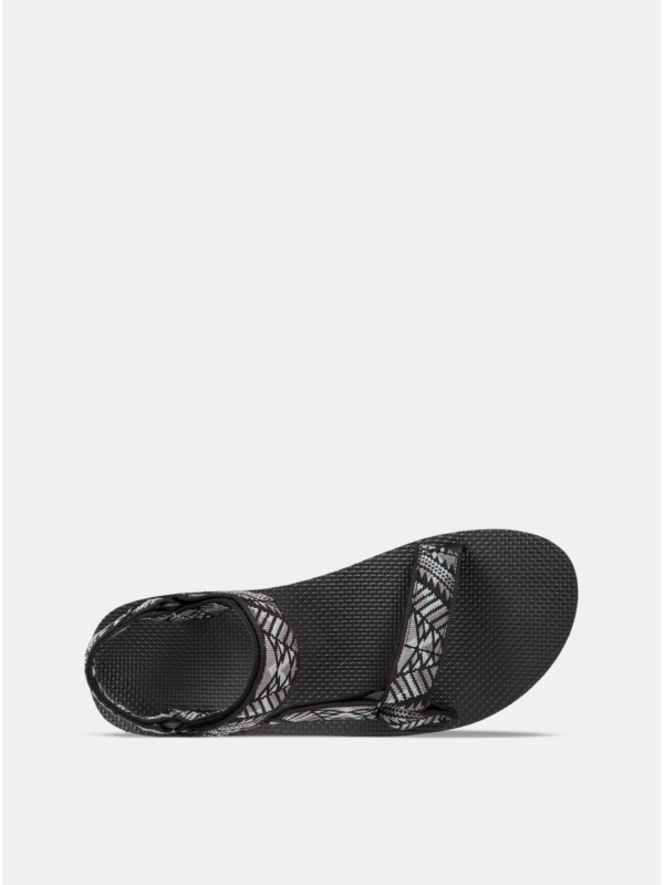 Sivo–čierne pánske vzorované sandále Teva