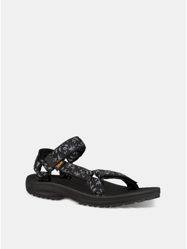 Modro–čierne pánske vzorované sandále Teva